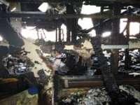 BORȘA: Trei familii au rămas fără acoperiş deasupra capului din cauza unui scurtcircuit