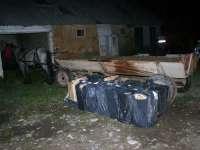 BRODINA - Baxuri cu țigări de contrabandă, abandonate de contrabandiști