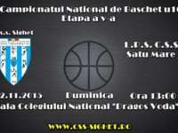 Campionatul Național Baschet U16: Meciul dintre CSS Sighet - LPS Satu-Mare se va desfășura în 22 noiembrie a.c.