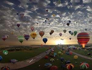 """Ce faci între 3 și 6 Octombrie? Hai la Baia Mare,  la """"Maramureș International Balloon Fiesta 2013″, să vezi cerul colorat de baloanele cu aer cald (VIDEO)"""