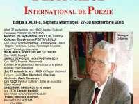 Centrul Cultural Sighet organizează ediţia a XLIII-a a Festivalului Internaţional de Poezie în perioada 27- 30  septembrie 2016