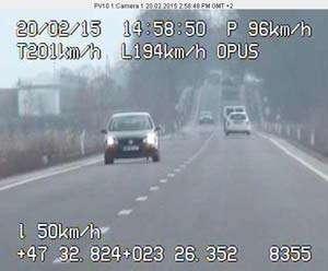 Cetățean francez surprins de aparatul radar în timp ce gonea cu 201 km/h pe DN 1C