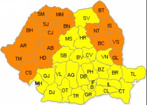 COD PORTOCALIU de caniculă în Maramureş. Nu este exclusă posibilitatea emiterii unui COD ROŞU