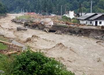 Cod portocaliu de inundații pe râuri din județele Maramureș, Satu Mare și Bistrița-Năsăud, până la ora 14:00