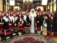 Colindători din Maramureș la Patriarhul României