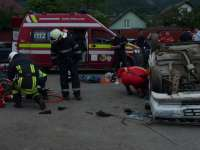 COMPETIȚIE: Pompierii și paramedicii sigheteni, cel mai bun echipaj de descarcerare și prim ajutor din județ