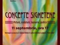 CONCEPTE SIGHETENE: Artisti plastici sigheteni expun la Baia Mare pe 11 septembrie