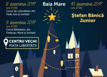 Concert Ștefan Bănică Junior și  alte evenimente cultural – artistice în Centrul Vechi al Băii Mari