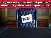 Concurs pentru directori în şcoala românească, sau concurs de memorat mecanic?