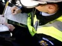 Conducători auto sub influența băuturilor alcoolice și cu numere false sancționați de polițiști