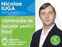 Construirea de noi locuințe pentru tineri, o prioritate majoră a candidatului Iuga Nicolae pentru Camera deputaților (PMP)