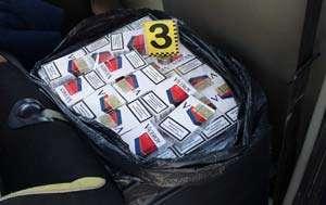 CONTRABANDĂ: 7500 pachete cu ţigări, confiscate de poliţiştii maramureşeni