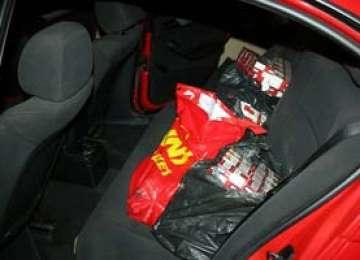 CONTRABANDĂ: Peste 24.000 pachete cu țigări confiscate de poliţiştii de frontieră în ultimele 24 de ore