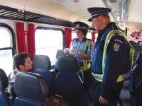 Controale în trenurile pentru călători. 76 de persoane au fost amendate
