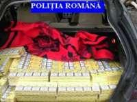 CONTROL: 7180 pachete cu ţigări de contrabandă confiscate și zece dosare penale întocmite de poliţişti