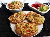 De sezon: Salată de fasole verde cu ardei copt şi maioneză