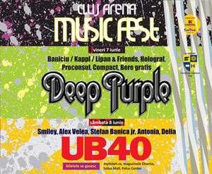 Deep Purple şi UB 40 la Cluj