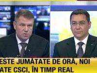 DEZBATERE PONTA - IOHANNIS - Victor Ponta a dominat dezbaterea electorală
