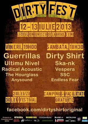 DIRTY FEST 2013 - Festival rock cu trupe din Ardeal, la Seini.