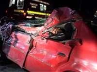 Doi morţi în urma unui impact violent dintre o Dacia şi un Tir la ieşirea din Baia Mare