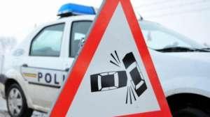 Două maşini s-au ciocnit pe DN 18 în Vişeu de Sus