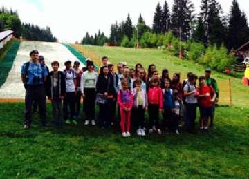 Elevi din București în vizită la Postul Montan de Jandarmi Cavnic