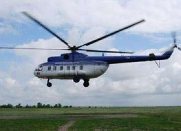 Elicopter MAI, în recunoaştere deasupra Maramureşului