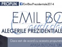 Emil Boc, candidat la prezidenţiale pe Facebook