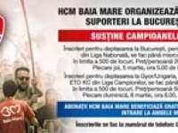 Excursii la meciurile din Bucureşti şi Gyor pentru suporterii HCM-ului