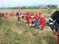 Simulare de accident aviatic în Munţii Țibleșului