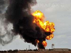 Explozii în lanţ la o conductă de petrol, în Bacău