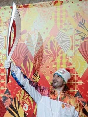Flacăra olimpică a JO 2014 a călătorit cu metroul din Moscova