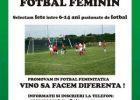 Selecție fete pentru Fotbal Feminin în Maramureș