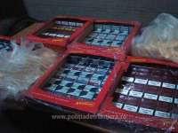 FOTO - 26.000 pachete cu țigări, confiscate la frontiera de nord