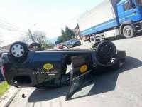 FOTO: Accident de circulație pe strada Dragoș Vodă din Sighetu Marmației