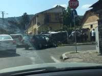 FOTO - Accident spectaculos în municipiul Sighetu Marmației