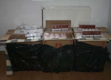 FOTO - Ţigări în valoare de peste 63.000 lei confiscate de către Polițiștii de frontieră