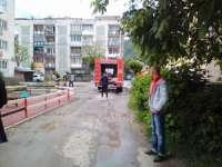 FOTO: Incendiu la un apartament din Sighetu Marmației în zona Flora