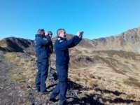 FOTO - Jandarmii montani din Borşa au participat la acţiunea de evaluare  a caprelor negre din Munţii Rodnei