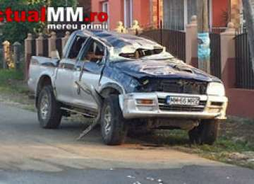 FOTO: LĂPUŞ – Un tânăr a murit după ce s-a rostogolit cu maşina de teren