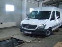 FOTO - Microbuz Mercedes-Benz căutat de autoritățile din Italia, descoperit de polițiștii de frontieră