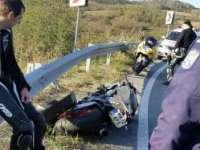 FOTO - Motociclist rănit într-un accident în pasul Mesteacăn