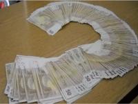 FOTO - Peste 10.000 de euro, depistaţi într-un sac cu hrană pentru câini în PTF Sighet