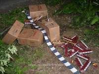 FOTO - Peste 12.000 pachete ţigări confiscate la frontiera de nord