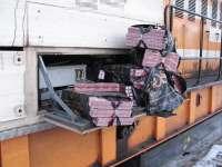 FOTO: Peste 5.000 pachete ţigări confiscate la frontiera de nord