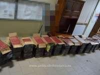FOTO - Peste 7.000 pachete țigări confiscate la frontiera de nord