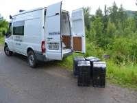 FOTO: Poienile de sub Munte - Peste 7.000 de pachete de tigari de contrabandă confiscate de către Polițiștii de frontieră