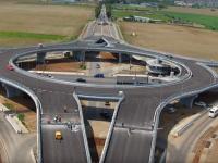 FOTO - Primul sens giratoriu suspendat din România se deschide sâmbătă