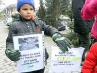FOTO - Proteste în Baia Mare din cauza creditelor în franci elvețieni