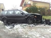 FOTO: SIGHET - Accident auto la intersecția străzilor Iuliu Maniu cu Alexandru Ivasuc